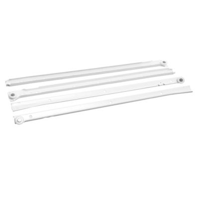 Riel blanco para cajón 45 cm