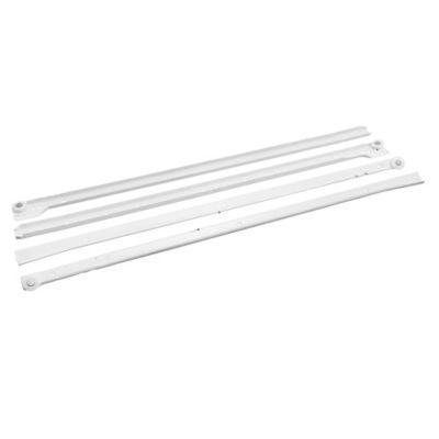 Riel blanco para cajón 55 cm