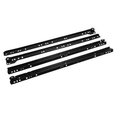 Riel negro para cajón 50 cm