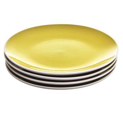 Set de 4 platos verdes chicos 20 cm