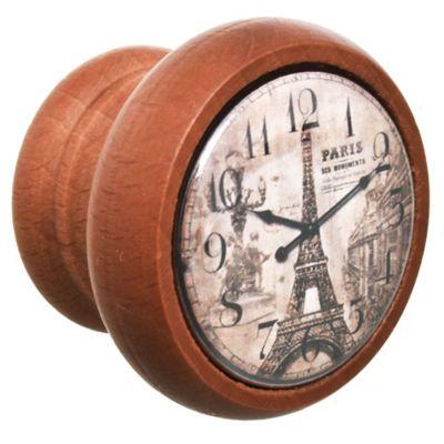 Tirador pomo de madera Reloj Torre 4 cm