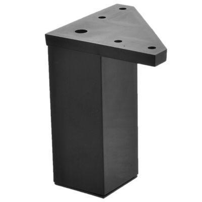 Pata de plástico cuadrada negro 4 x 10 cm