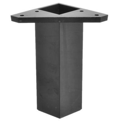 Pata de plástico negro 4 x 15 cm