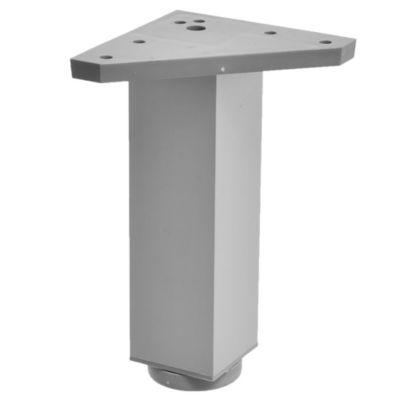 Pata de aluminio gris cuadrada con regulador 4 x 15 cm