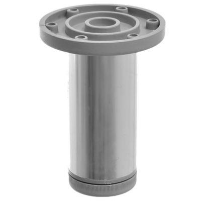 Pata de aluminio plateada con regulador 4 x 10 cm