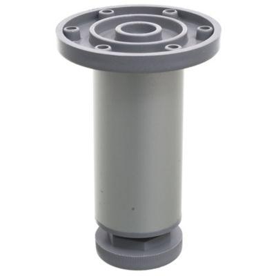 Pata de aluminio gris con regulador 4 x 10 cm