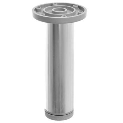 Pata de aluminio plateada con regulador 4 x 15 cm