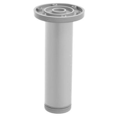 Pata de aluminio gris con regulador 4 x 15 cm