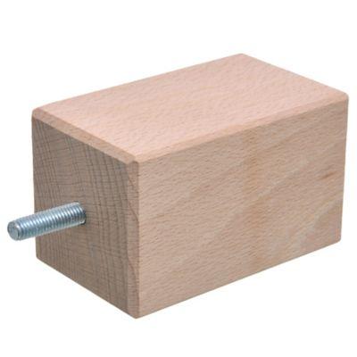 Pata de madera Cuadrada 6 x 10 cm Haya