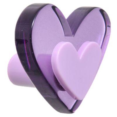 Tirador corazón morado 4,2 x 3,7 cm