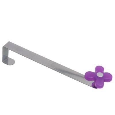 Gancho de puerta Flor de metal morado