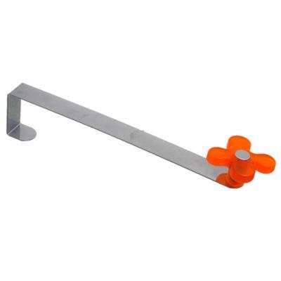 Gancho de puerta Flor de metal naranja