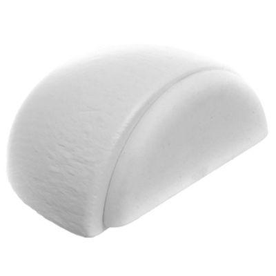 Tope de madera adhesivo blanco 4,9 x 2,1 cm