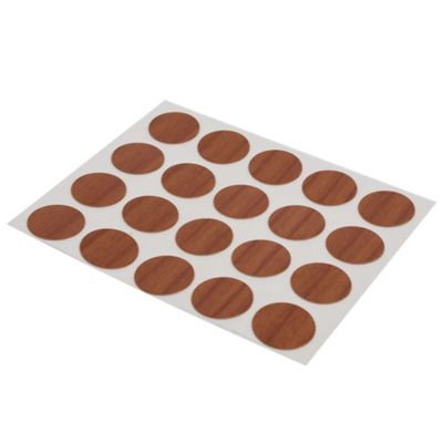 Tapa tornillo adhesivo 20 unidades cerezo 1,3 cm