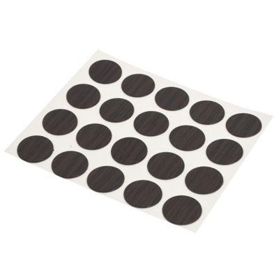 Tapa tornillo adhesivo 20 unidades wengue 1,3 cm