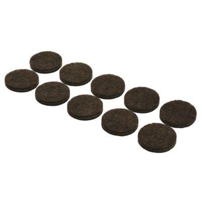 Fieltros redondos 10 unidades marrón 2,2 cm