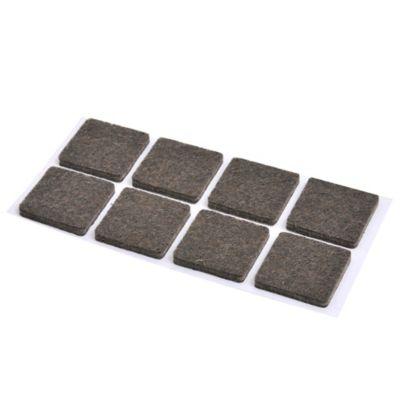 Fieltros cuadrados 8 unidades marrón 2,5 x 2,5 cm