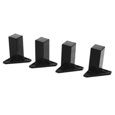 Pack 4 patas cuadradas negras 10 x 4 cm