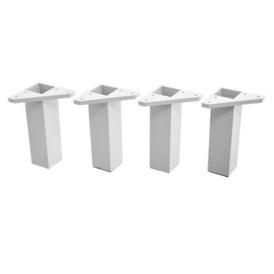 Pack 4 patas cuadradas blancas 15 x 4 cm