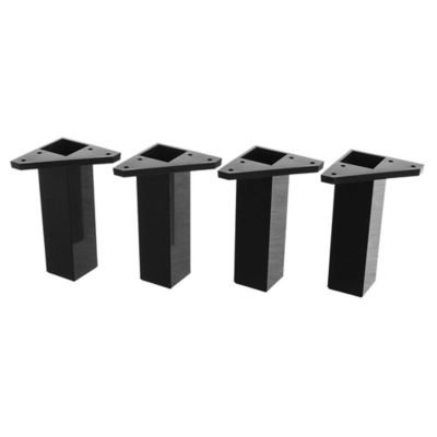 Pack 4 patas cuadradas negras 15 x 4 cm