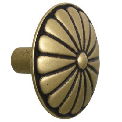Tirador botón 1 pieza dorado viejo 3,5 cm