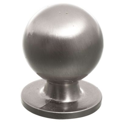 Tirador botón 1 unidad plateado 3,5 x 1,5 cm