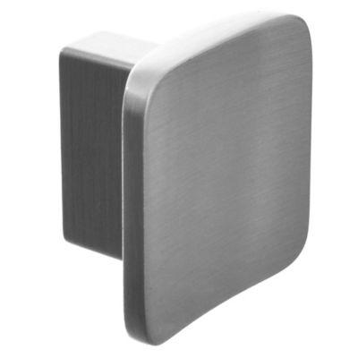 Tirador Botón cuadrado plateado 3,3 cm 1 pieza