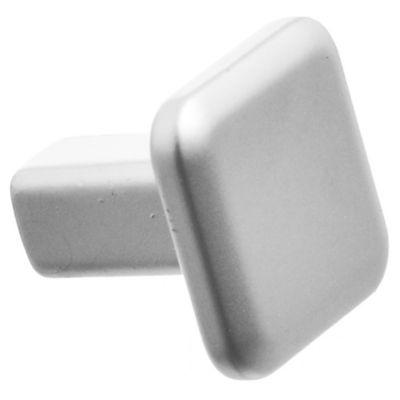 Tirador botón cuadrado cromo mate 1 pieza