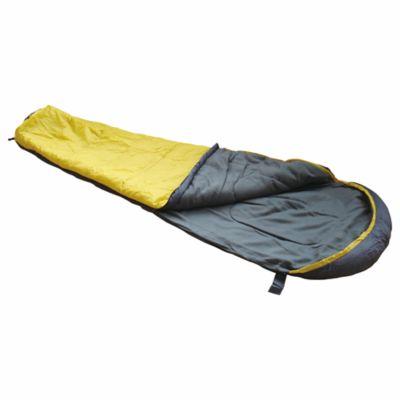 Sobre de dormir Momia amarillo y negro 230 x 80/55 cm