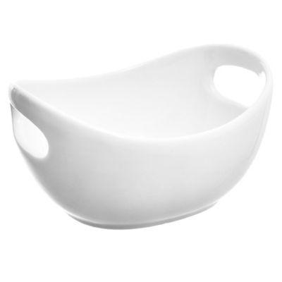 Fuente de porcelana ovalada pequeña