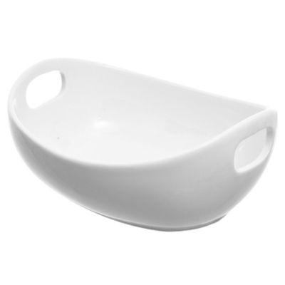 Fuente de porcelana ovalada mediana