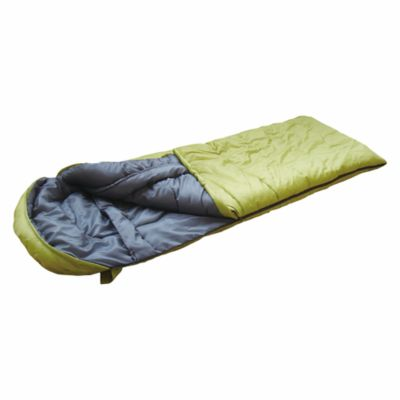 Sobre de dormir con gorro verde 220 x 75 cm