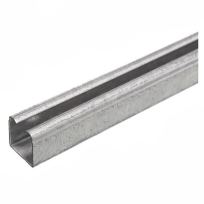 Riel de acero U-100 x 3 m