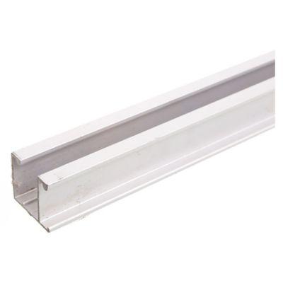 Riel de aluminio U-28 x 2 m