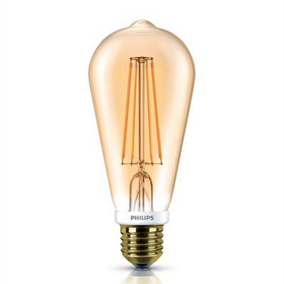 Lámpara de luz LED fila diminicente gold E27 5 w cálida