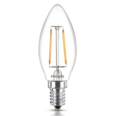Lámpara de luz LED fila vela E14 40 w cálida