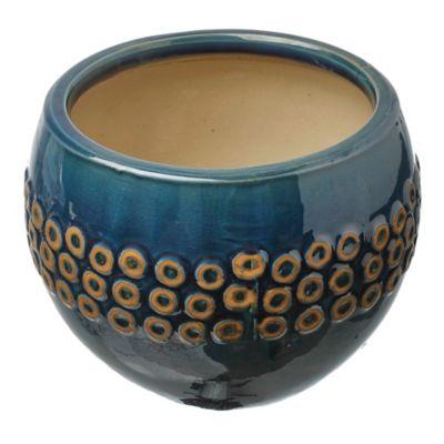 Macetero Bilbao azul 30 x 23 cm