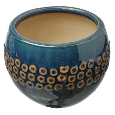Macetero Bilbao azul 23 x 19 cm