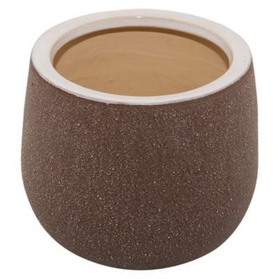 Macetero Ceuta marrón 22 x 18 cm