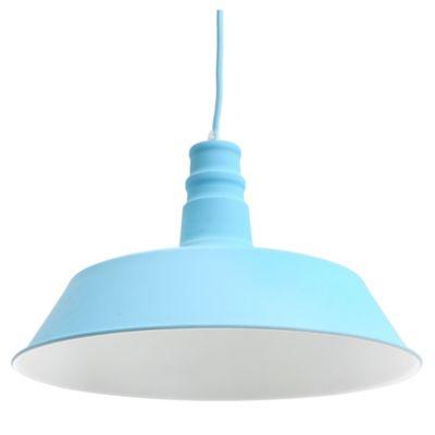 Lámpara colgante 36 cm Vintage celeste 1 luz E27