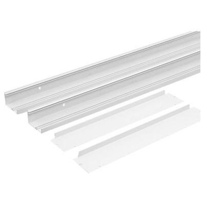 Marco blanco para panel LED de 30 x 120 cm