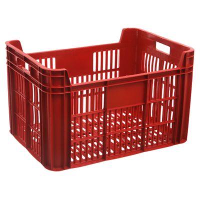 Cajón organizador de plástico cosechero rojo 38 L