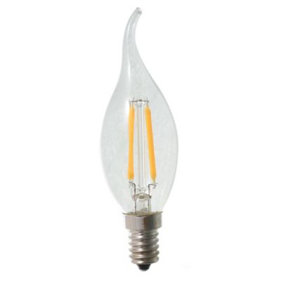 Lamparita LED G45 vela decorativa filamento 4 w E14