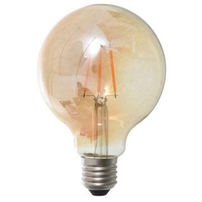 Lamparita LED globo ámbar 4 w E27