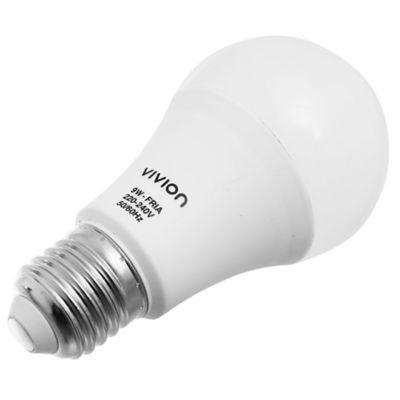 Lamparita LED Bulbo A60 fría 9 w E27