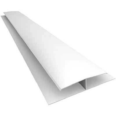 Perfil H de transición blanco PVC
