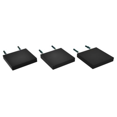 Pack de 3 repisas plus negro