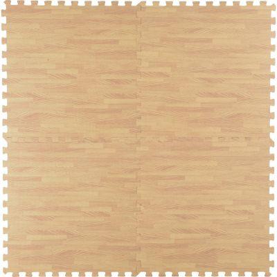 Alfombra decorativa Puzzle madera encastrable 60 x 60 cm