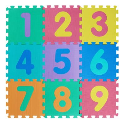 Alfombra infantil de goma eva Puzzle Números encastrable 30 x 30 cm