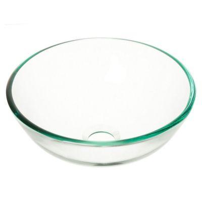 Bacha circular vidrio templado de apoyo 31 x 12 cm transparente